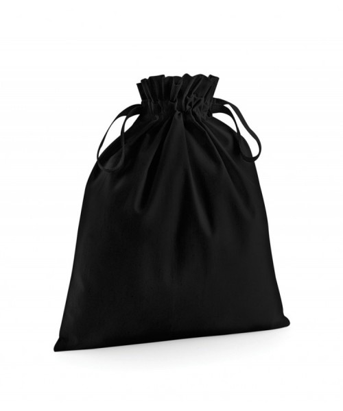 Plain ORGANIC COTTON DRAWCORD BAG WESTFORD MILL 115 GSM