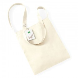 Plain Organic cotton sling tote BAGS WESTFORD MILL 70g. Fabric weight: 170 GSM