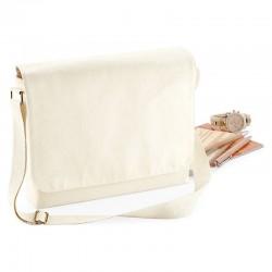 Plain Fairtrade cotton canvas messenger BAG WESTFORD MILL 370 GSM