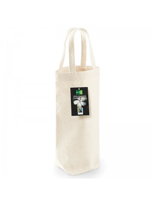 Plain Fairtrade cotton bottle bag BAG WESTFORD MILL 72 GSM