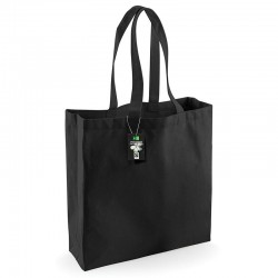 Plain Fairtrade cotton classic shopper BAGS WESTFORD MILL 266 GSM