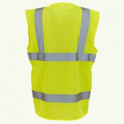 Plain Women's hi-vis executive waistcoat Yoko 120 GSM
