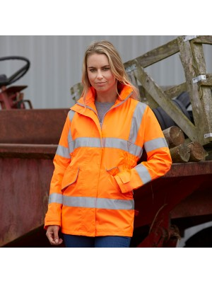 Plain Women's hi-vis executive jacket Yoko 300D GSM