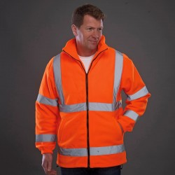 Plain Hi vis heavyweight fleece jacket Yoko 380 GSM