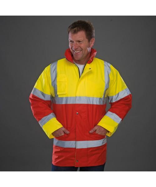 Plain Hi vis contrast jacket Yoko 190 GSM