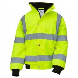 Plain Hi vis kids bomber jacket Yoko 300D Outer fabric, 190g Padding GSM