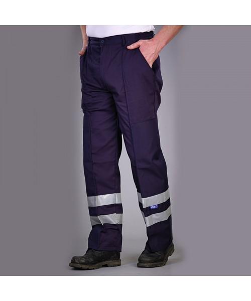 Plain Reflective polycotton ballistic trousers Yoko 245 GSM