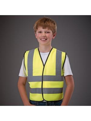 Plain Kids hi vis 2 b&b waistcoat Yoko 120 GSM