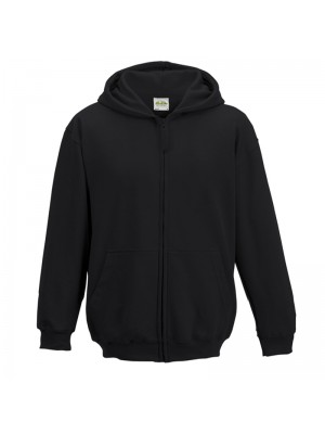 Plain Kids Black Zip up starsNstripes Hoodie