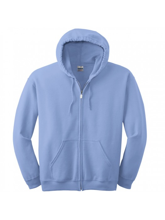 Plain Carolina Blue Zip up Gildan Hoody