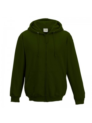 Plain Forest Green Zip up AWD Hoodie