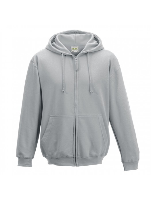 Plain Heather Grey Zip up AWD Hoodie