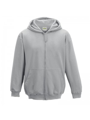 KIDS Heather Grey AWD Zip up Hoodie