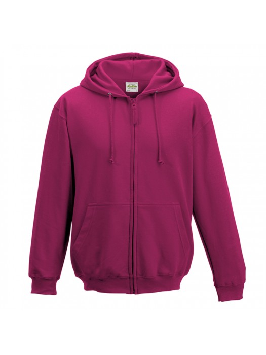 Plain Hot Pink Zip up AWD Hoodie