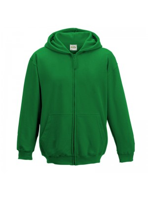 Kids Kelly Green AWD Zip up Hoodie
