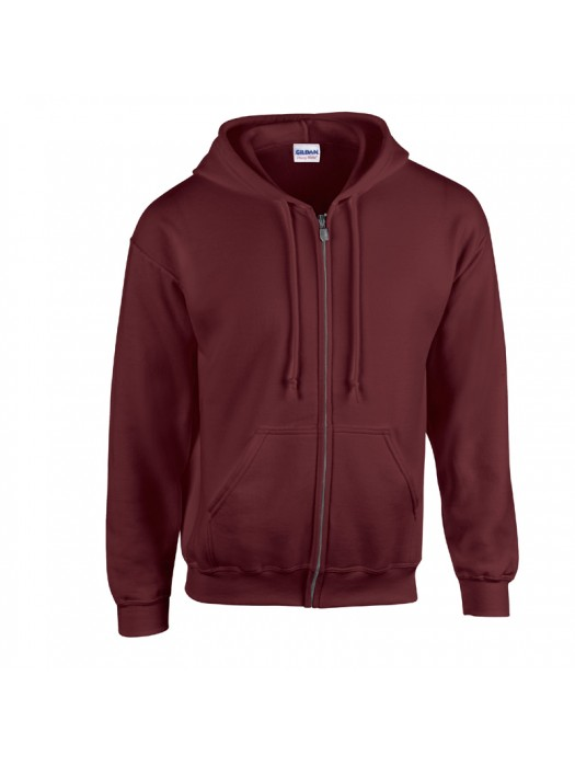 Plain Maroon Zip up Gildan Hoody