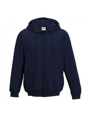 Plain French Navy Zip up AWD Hoodie