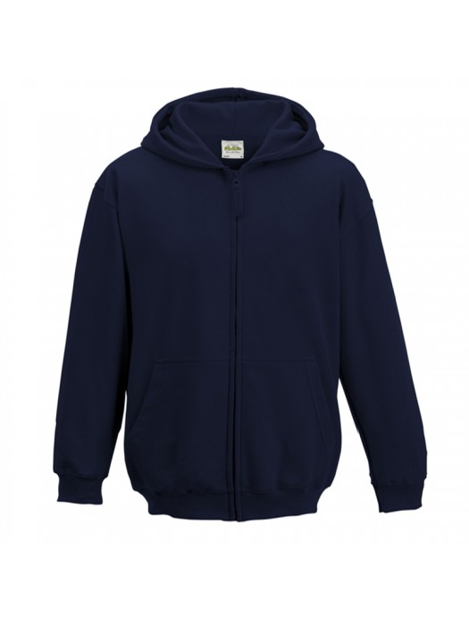 KIDS French Navy AWD Zip up Hoodie