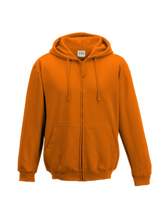 Plain Orange Crush Zip up AWD Hoodie