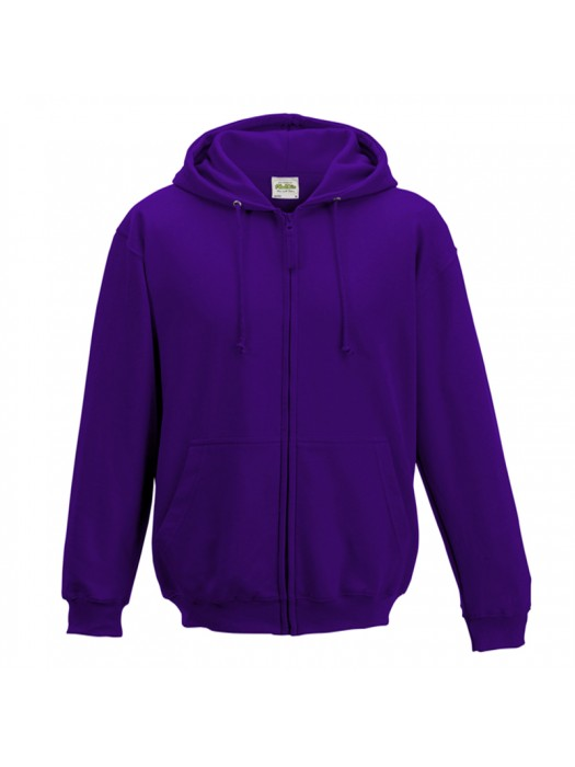 Plain Purple Zip up AWD Hoodie