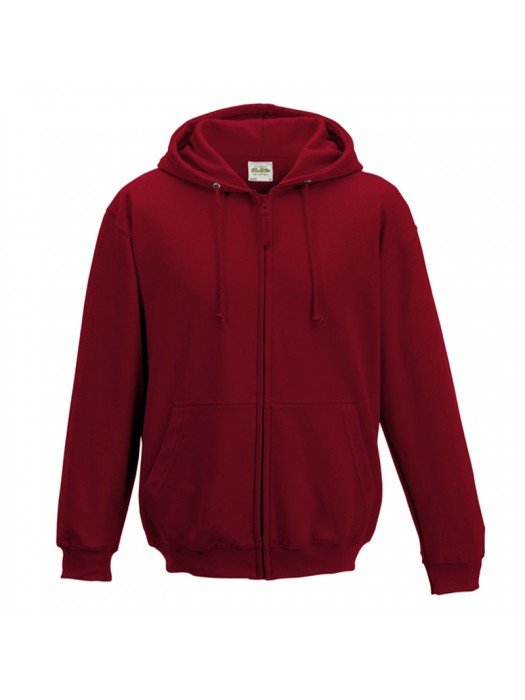 Plain Red Hot Chilli Zip up AWD Hoodie