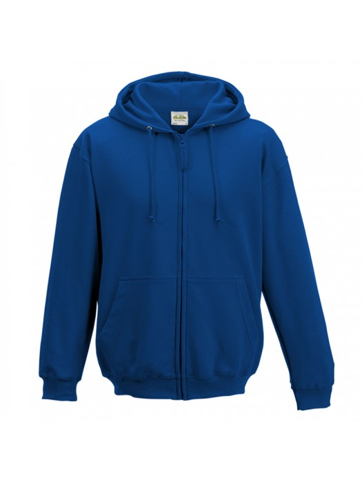 Plain Royal Blue Zip up AWD Hoodie