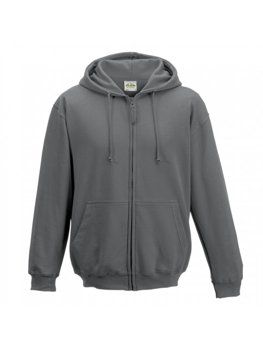 Plain Steel Grey Zip up AWD Hoodie