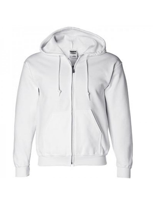 Plain white zip up hoodie