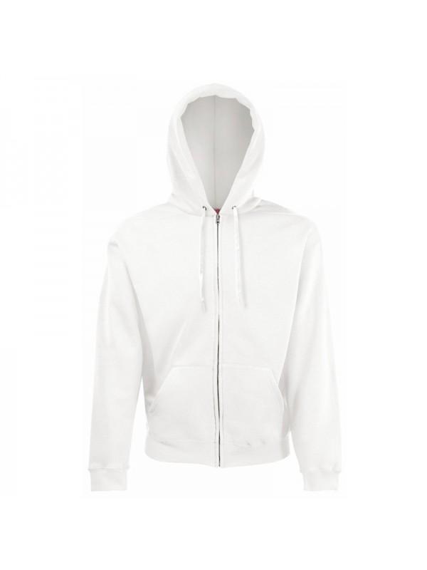 plain fruit of the loom white zip hoodie fotl white zip hoody. Black Bedroom Furniture Sets. Home Design Ideas