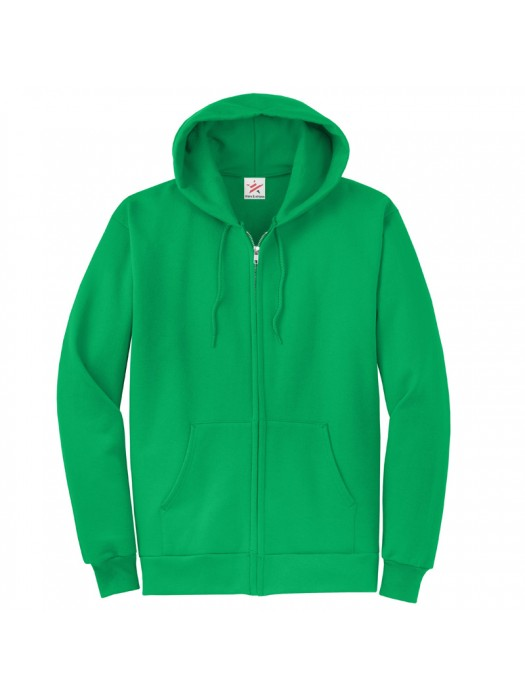 Plain Kelly Green Zip up starsNstripes Hoodie