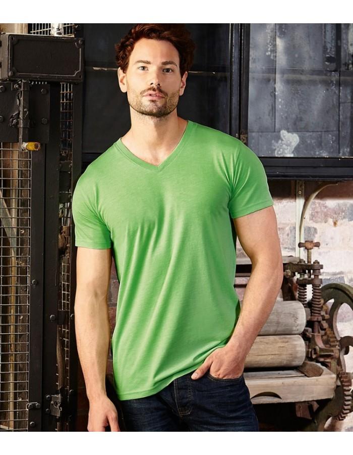 Plain T-Shirt V NECK Russell White 155 gsm Cols 160 gsm