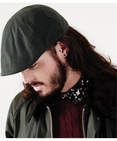 Plain WAXED FLAT CAP BEECHFIELD