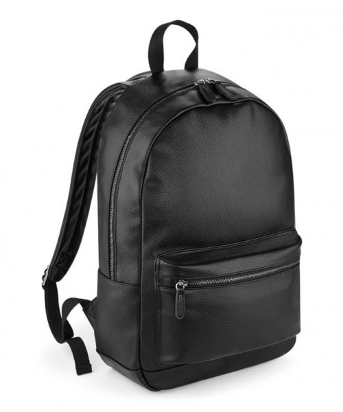 Plain BAGBASE FAUX LEATHER BACKPACK BAG BAGBASE 580 GSM