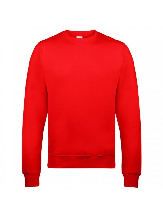 Plain Red crew neck sweatshirt