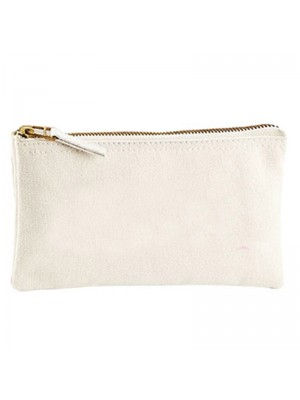 A Cotton cosmetic zip purse bag