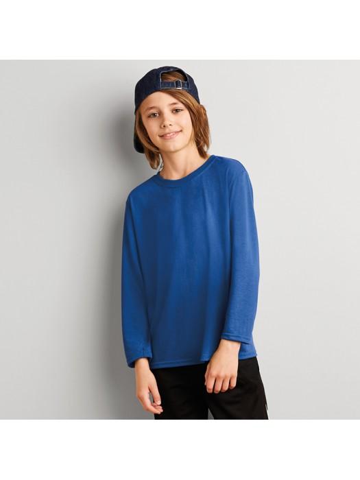 Kids Performance Long Sleeve T-Shirt Gildan White 145 gsm Colours 153 GSM
