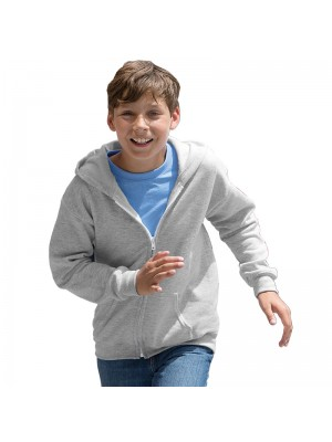 Kids HEAVY BLEND ZIP HOODED SWEATSHIRT Gildan White 265 gsm Cols 280 GSM