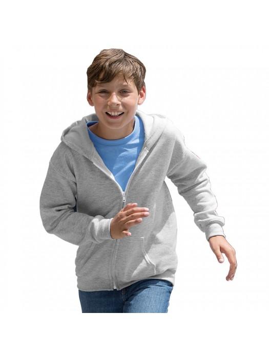 Kids HEAVY BLEND ZIP HOODED SWEATSHIRT Gildan White 265 gsm Cols 280 GSM