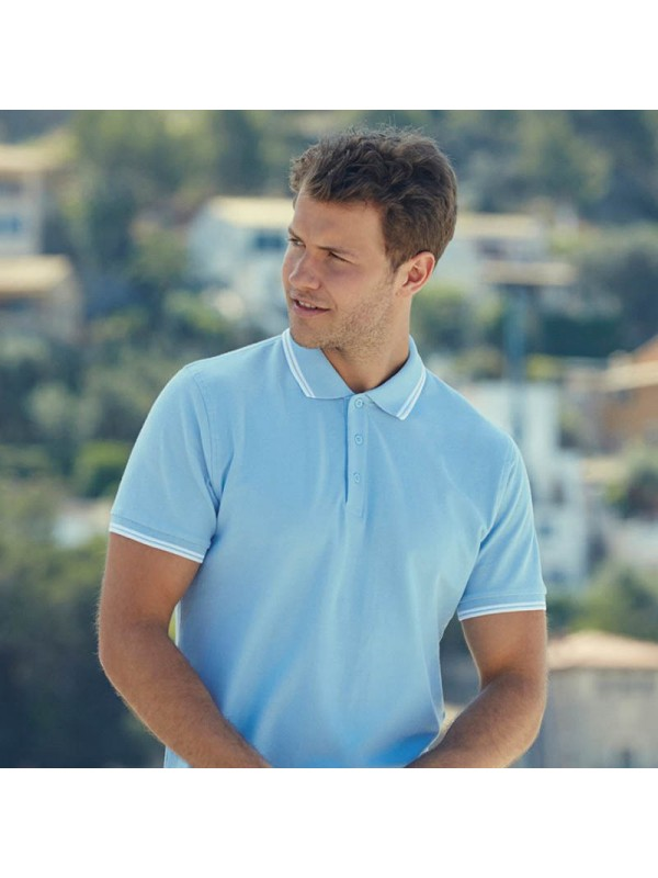 76d3daf8 PREMIUM TIPPED PIQUE POLO SHIRT Fruit of the Loom White 170 gsm Cols 180  GSM · Zoom