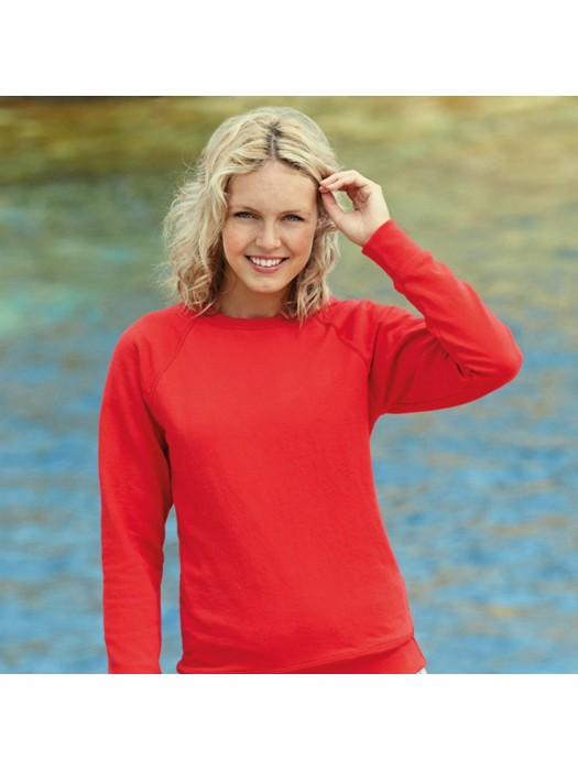 LADY FIT LIGHTWEIGHT RAGLAN SWEATSHIRT Fruit of the Loom 240 GSM