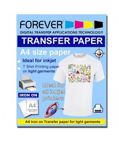 A4 InkJet Transfer Paper Light Garment Forever brand