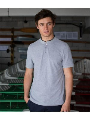 Plain STAND COLLAR STRETCH POLO SHIRT FRONT ROW 200 GSM