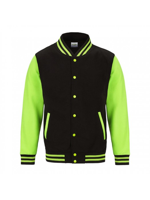 Neon Electric Green AWD Varsity Jackets