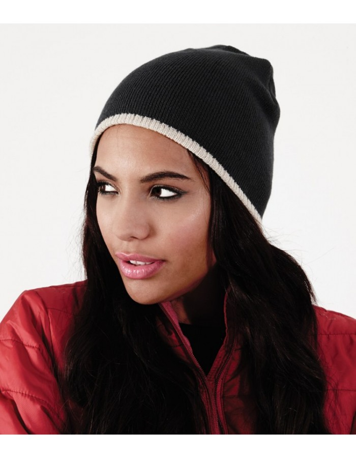 Beanie Two-Tone Acrylic Knitted Beechfield Headwear