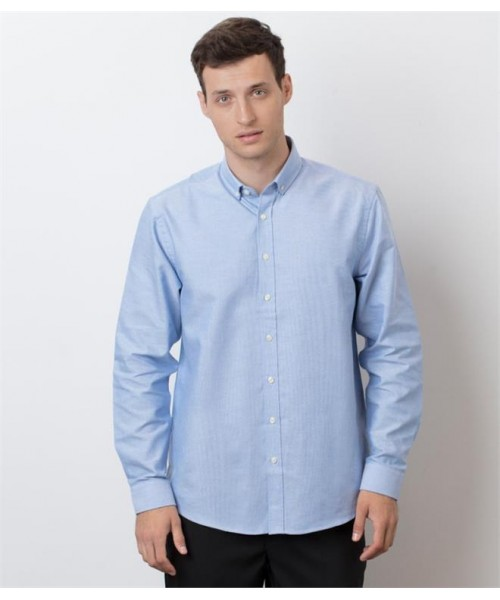 Plain MODERN LONG SLEEVE CLASSIC FIT OXFORD SHIRT HENBURY 150 GSM