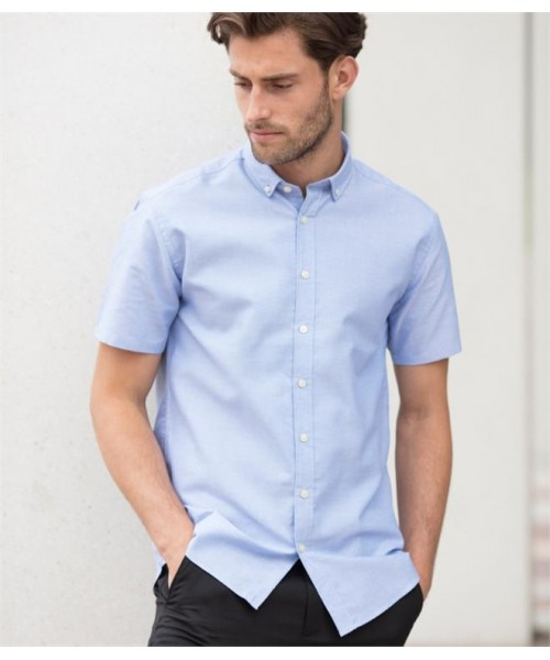 Plain MODERN SHORT SLEEVE REGULAR FIT OXFORD SHIRT HENBURY 150 GSM