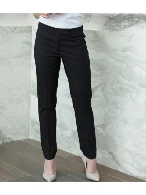 Plain LADIES TAPERED LEG TROUSERS HENBURY 185 GSM