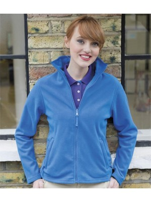 Plain LADIES MICRO FLEECE JACKET HENBURY 280 GSM