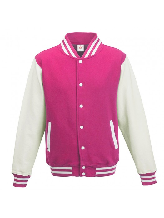 Fuschia/White Varsity Jackets