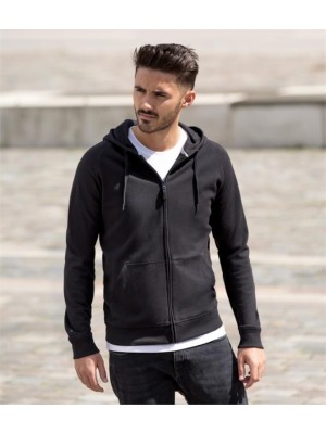 Plain HD ZIP HOODED SWEATSHIRT RUSSELL Colours: 255 White: 250 GSM